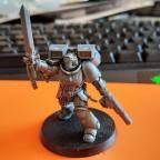 Ashen Sentinels - Captain mit Sprungmodul, Energieschwert und Kombimelter - WIP 01